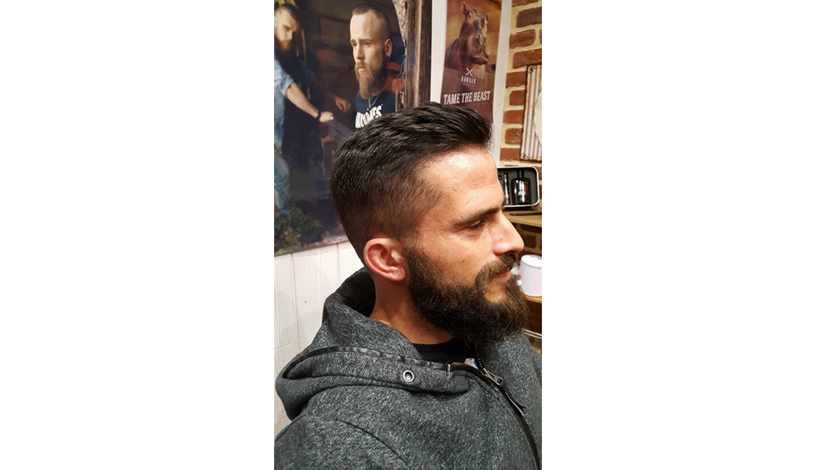 barbe coiffure homme cheveux courts